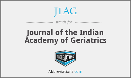 JIAG - Journal of the Indian Academy of Geriatrics