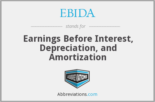 What does EBIDA stand for?