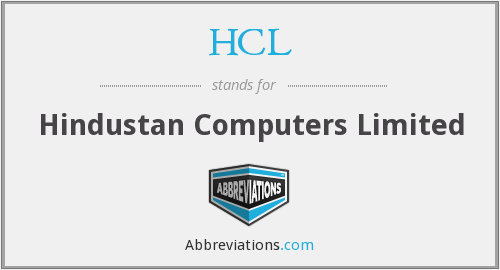 HCL - Hindustan Computers Limited