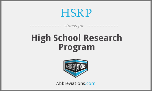 HSRP - High School Research Program