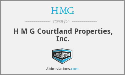 HMG - H M G Courtland Properties, Inc.