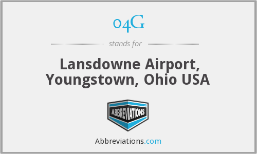 04G - Lansdowne Airport, Youngstown, Ohio USA
