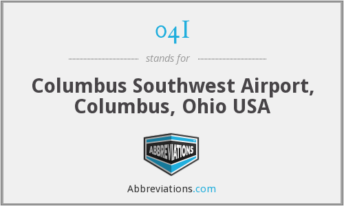 04I - Columbus Southwest Airport, Columbus, Ohio USA