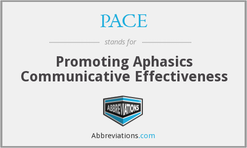 PACE - Promoting Aphasics Communicative Effectiveness