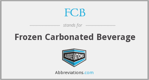 FCB - Frozen Carbonated Beverage