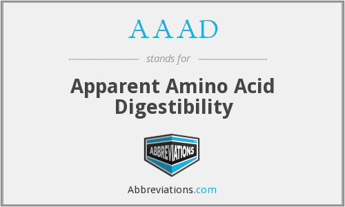 AAAD - Apparent Amino Acid Digestibility