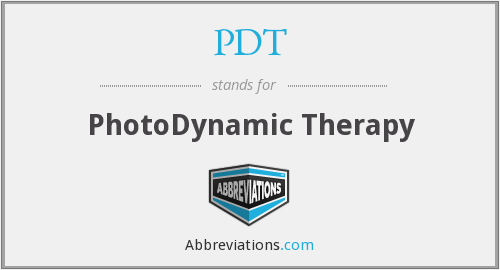 What does PDT stand for?