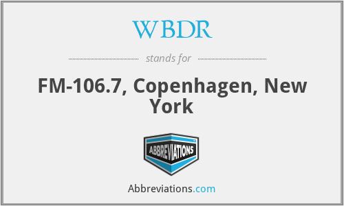 WBDR - FM-106.7, Copenhagen, New York