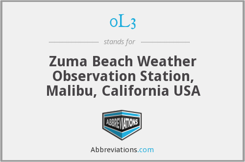 0L3 - Zuma Beach Weather Observation Station, Malibu, California USA