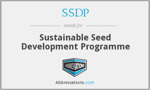 SSDP - Sustainable Seed Development Programme