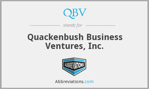 QBV - Quackenbush Business Ventures, Inc.