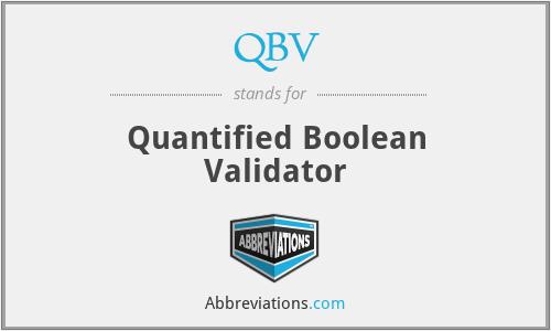 QBV - Quantified Boolean Validator
