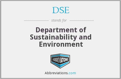 DSE - Department of Sustainability and Environment