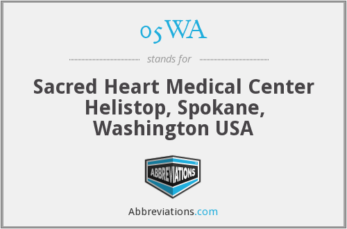05WA - Sacred Heart Medical Center Helistop, Spokane, Washington USA