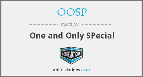 OOSP - One and Only SPecial