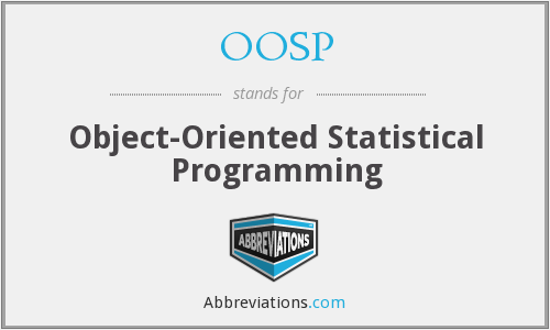 OOSP - Object-Oriented Statistical Programming