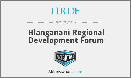 HRDF - Hlanganani Regional Development Forum