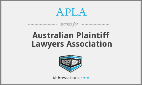 APLA - Australian Plaintiff Lawyers Association