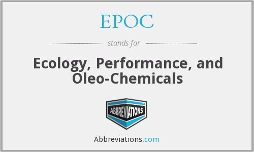 EPOC - Ecology, Performance, and Oleo-Chemicals