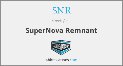 What does supernova remnant stand for?