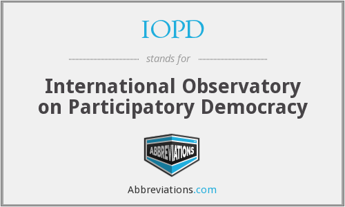 IOPD - International Observatory on Participatory Democracy
