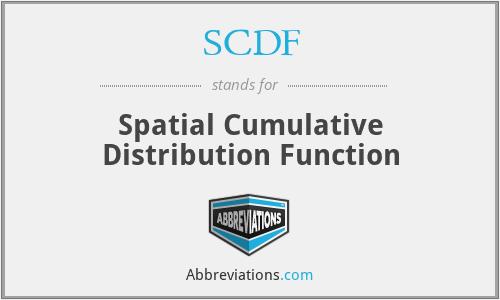 SCDF - Spatial Cumulative Distribution Function