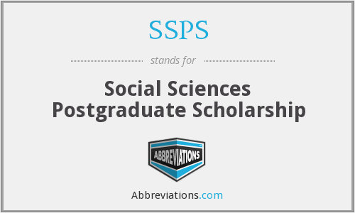 SSPS - Social Sciences Postgraduate Scholarship