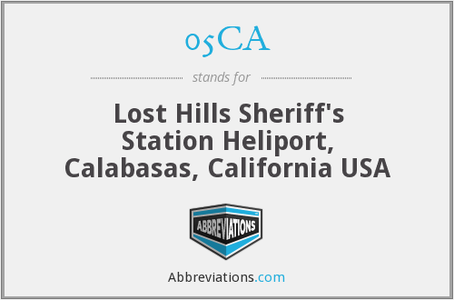 05CA - Lost Hills Sheriff's Station Heliport, Calabasas, California USA