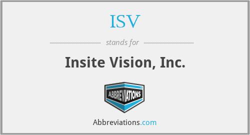 ISV - Insite Vision, Inc.