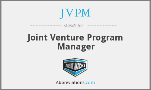 JVPM - Joint Venture Program Manager