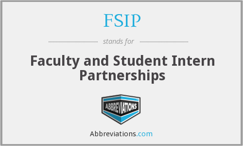 FSIP - Faculty and Student Intern Partnerships