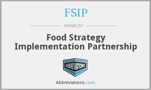 FSIP - Food Strategy Implementation Partnership