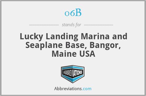 06B - Lucky Landing Marina and Seaplane Base, Bangor, Maine USA