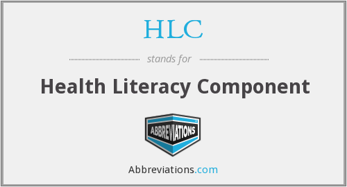 HLC - Health Literacy Component