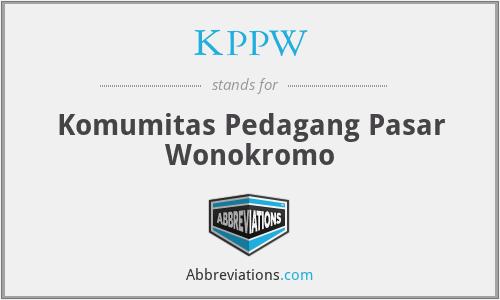KPPW - Komumitas Pedagang Pasar Wonokromo