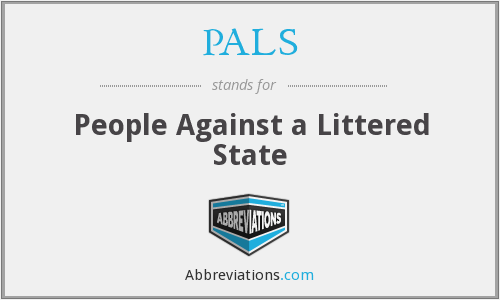 PALS - People Against a Littered State