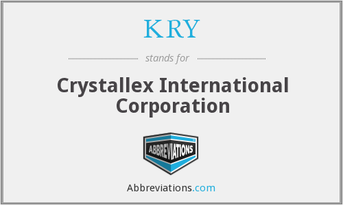 KRY - Crystallex International Corporation