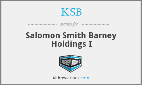 KSB - Salomon Smith Barney Holdings I