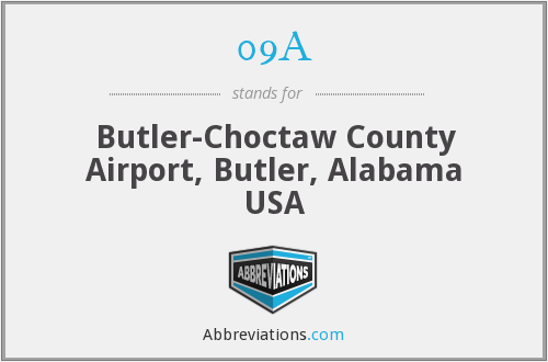 09A - Butler-Choctaw County Airport, Butler, Alabama USA