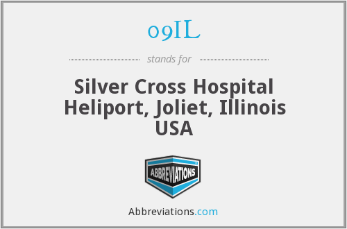 09IL - Silver Cross Hospital Heliport, Joliet, Illinois USA