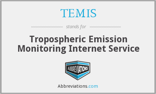 TEMIS - Tropospheric Emission Monitoring Internet Service