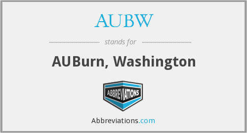 AUBW - AUBurn, Washington