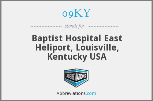 09KY - Baptist Hospital East Heliport, Louisville, Kentucky USA