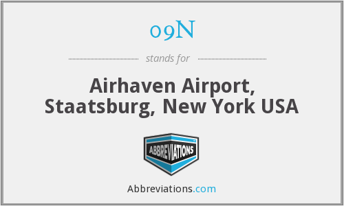 09N - Airhaven Airport, Staatsburg, New York USA