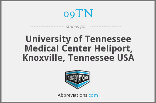 09TN - University of Tennessee Medical Center Heliport, Knoxville, Tennessee USA