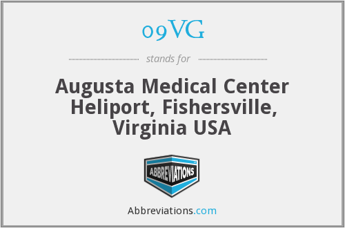 09VG - Augusta Medical Center Heliport, Fishersville, Virginia USA
