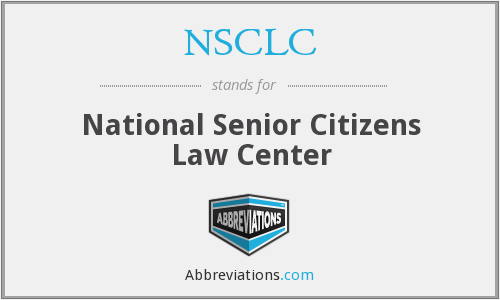 NSCLC - National Senior Citizens Law Center