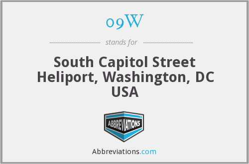 09W - South Capitol Street Heliport, Washington, DC USA