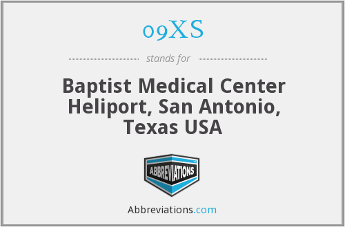 09XS - Baptist Medical Center Heliport, San Antonio, Texas USA