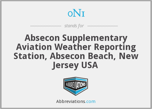 0N1 - Absecon Supplementary Aviation Weather Reporting Station, Absecon Beach, New Jersey USA